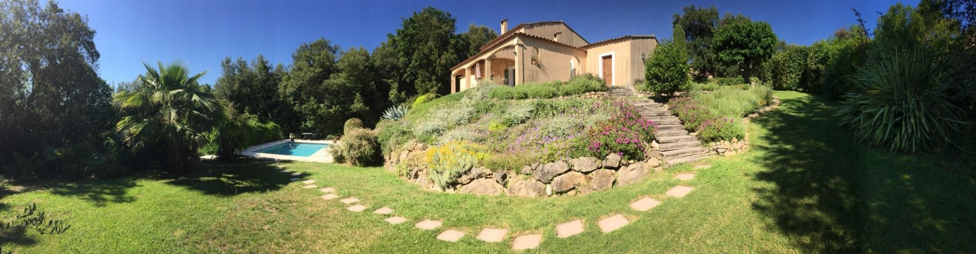 Villa Valbonne - luxe vakantiehuis bij Cannes Grasse Biot, 6 persoons, prive zwembad