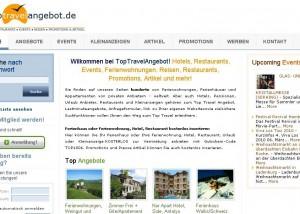 Toptravelangebot.de Duitstalige reisportal