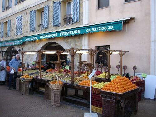 Valbonne Village Cote d'Azur groente juwelier