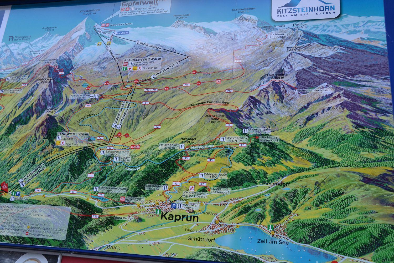 Skigebied Kaprun Oostenrijk