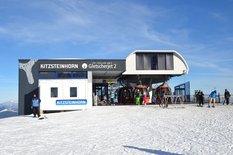 Sneeuwzeker skien in Kaprun Oostenrijk