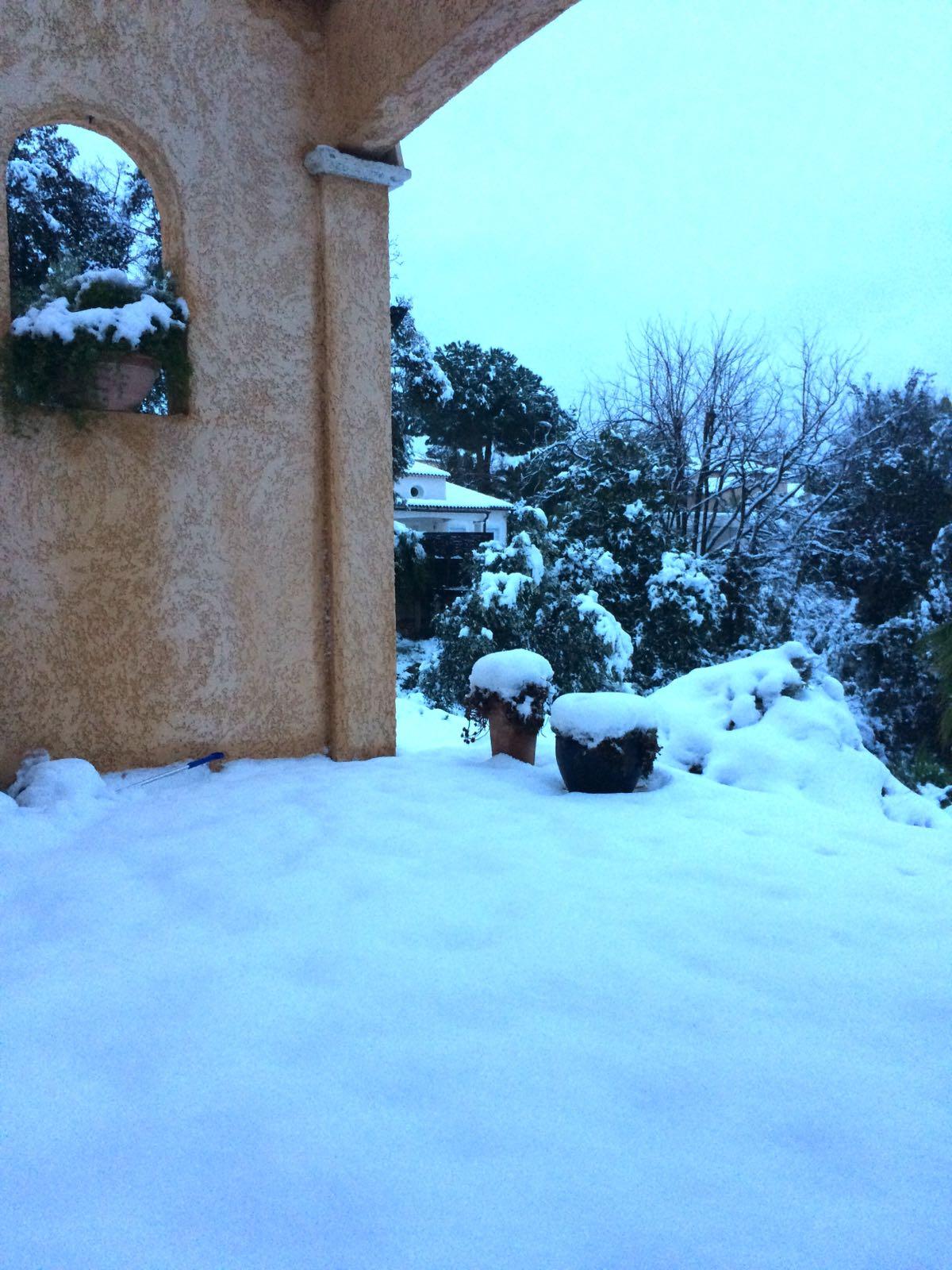 Winter in Valbonne - Snow in Valbonne