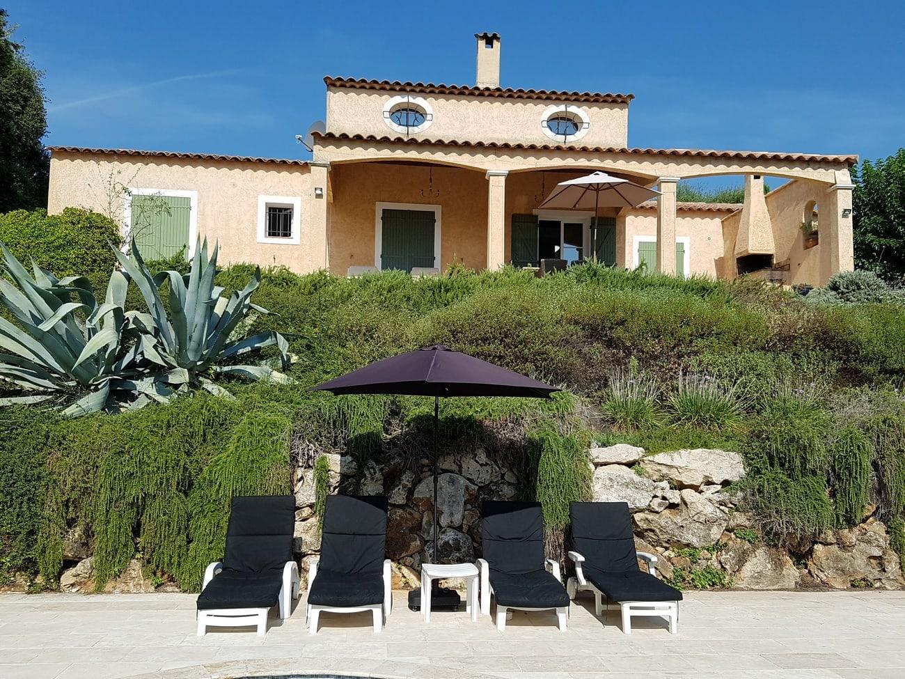 Villa rental Valbonne Cote d'Azur