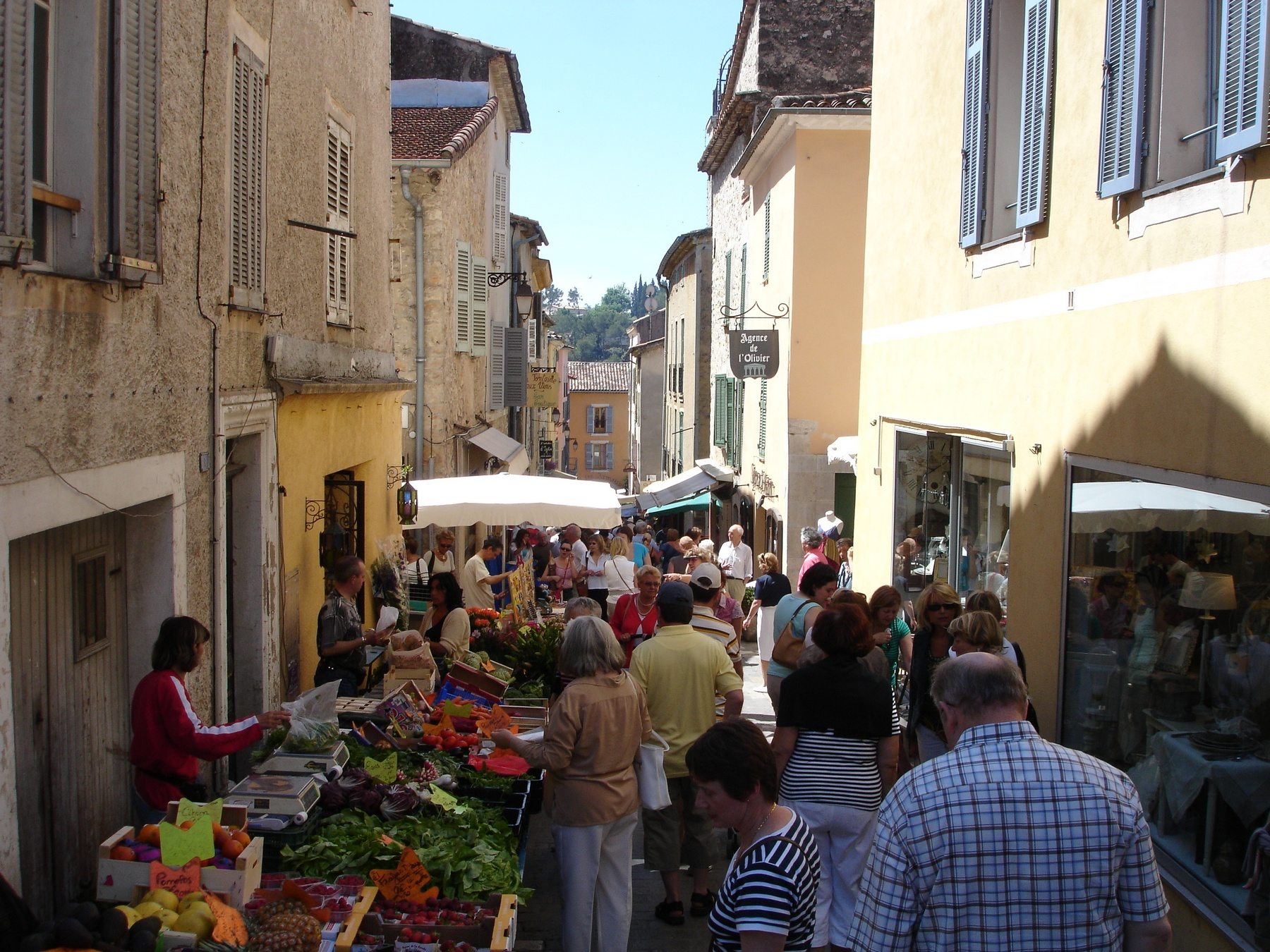 Friday market in Valbonne - Cote d'Azur South of France
