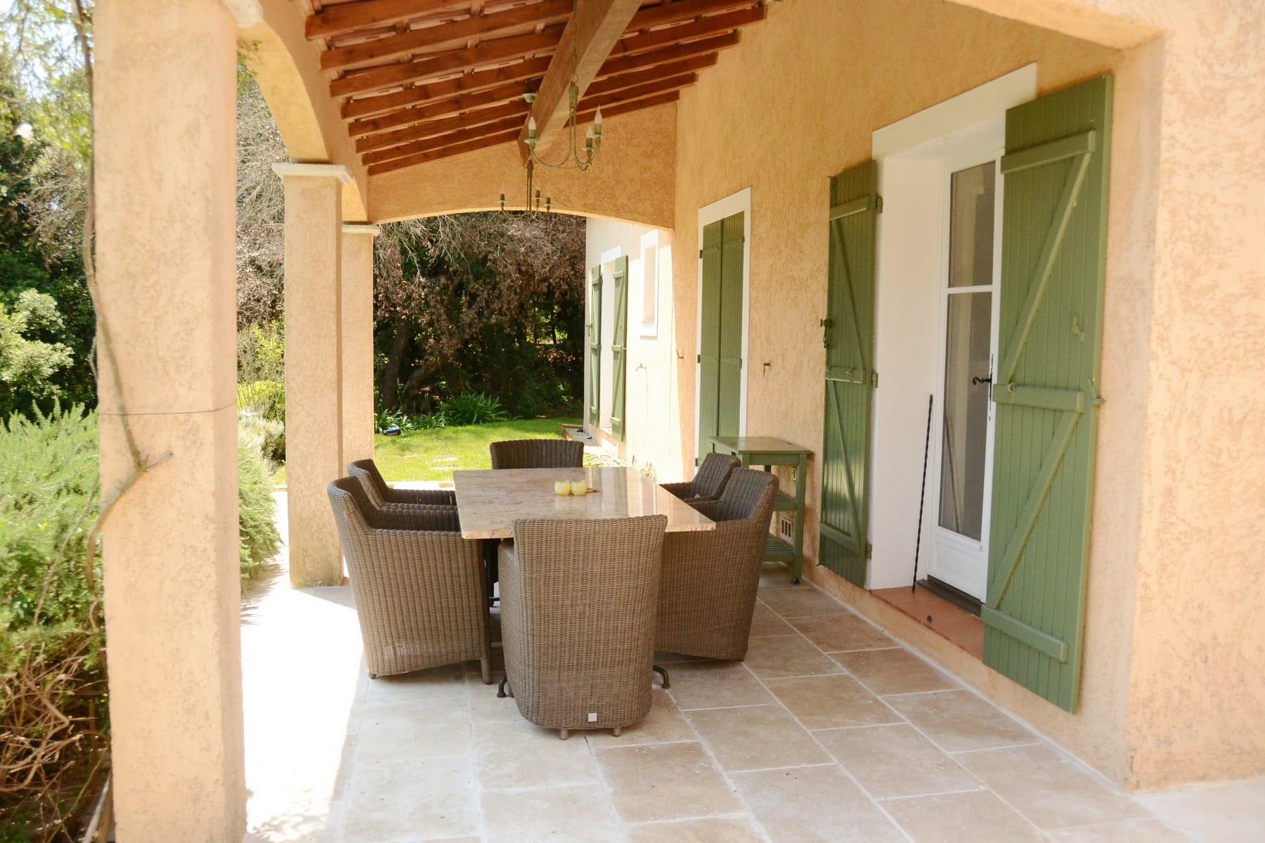 Veranda Overdekt Terras Villa Valbonne Cote d'Azur