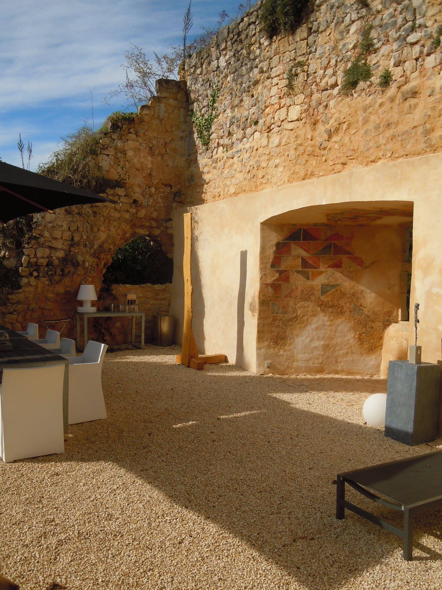 Castle Dordogne for Sale - Chateau de Clerans - terrace