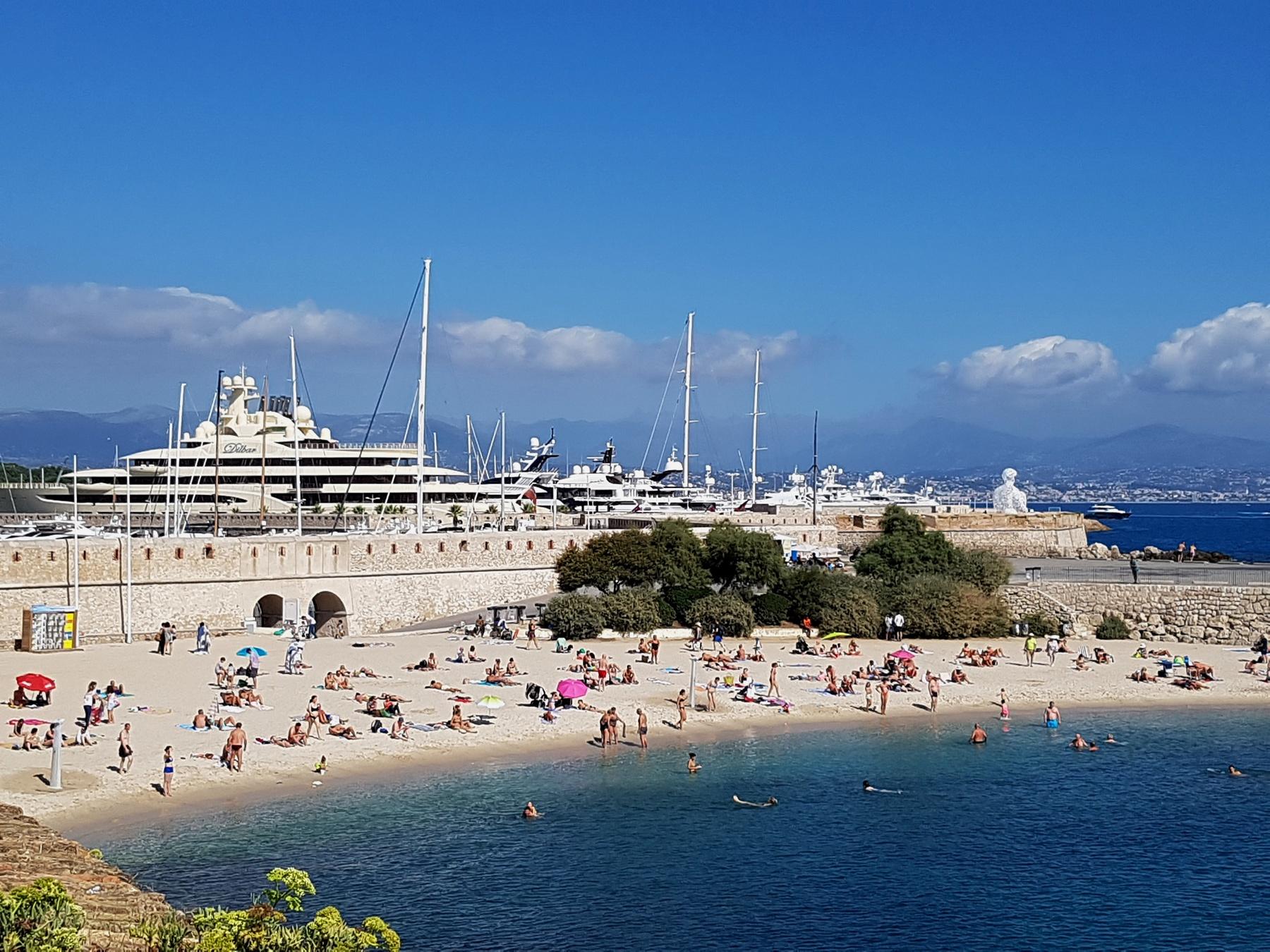 Strand (zand) Antibes Zuid Frankrijk