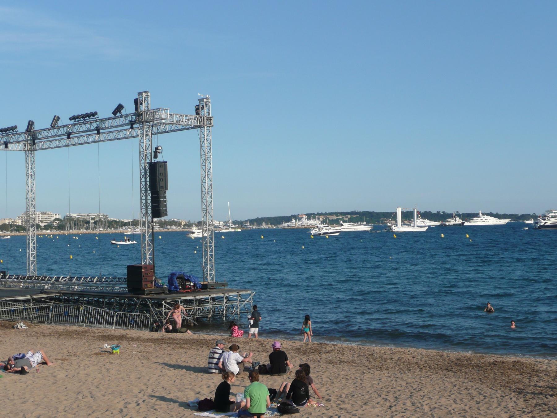 Openlucht film Croisette Cannes tijdens Filmfestival
