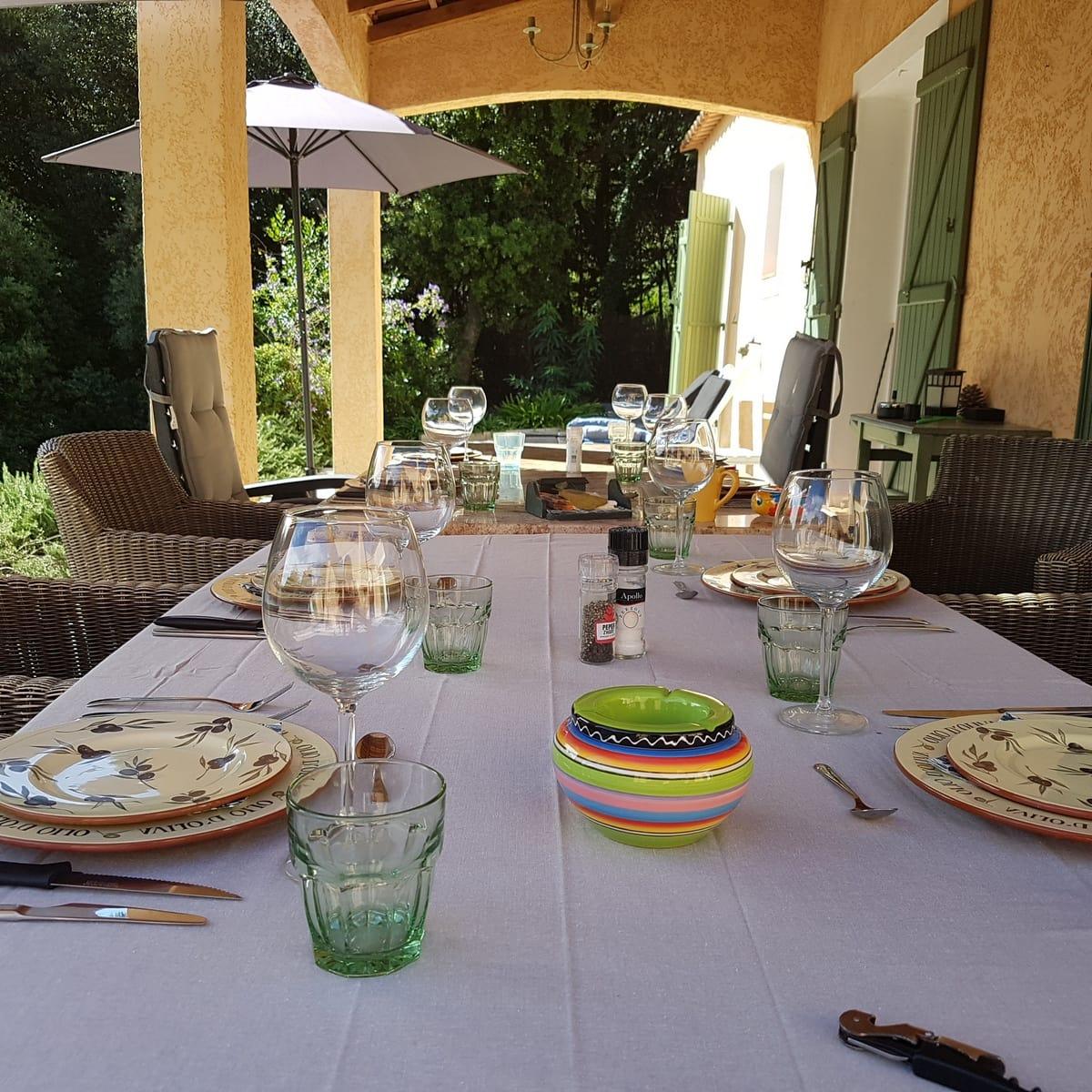 Terras Villa Valbonne - luxe vakantiehuis met zwembad cote d'Azur