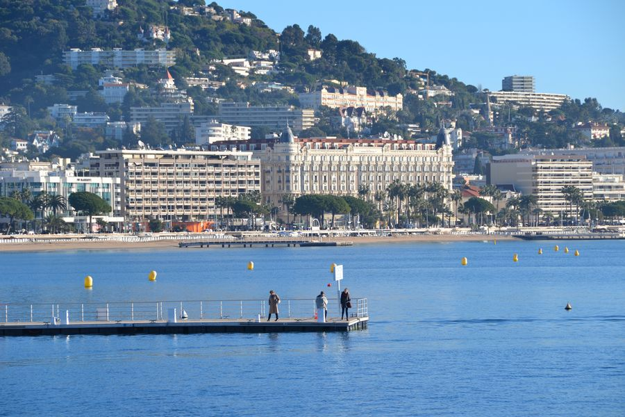 Ferry to Ile Sainte Marguerite - View over Cannes