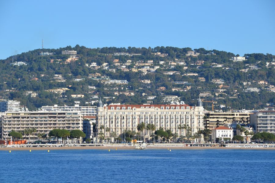 View of Cannes from the ferry to Sainte Marguerite Cannes