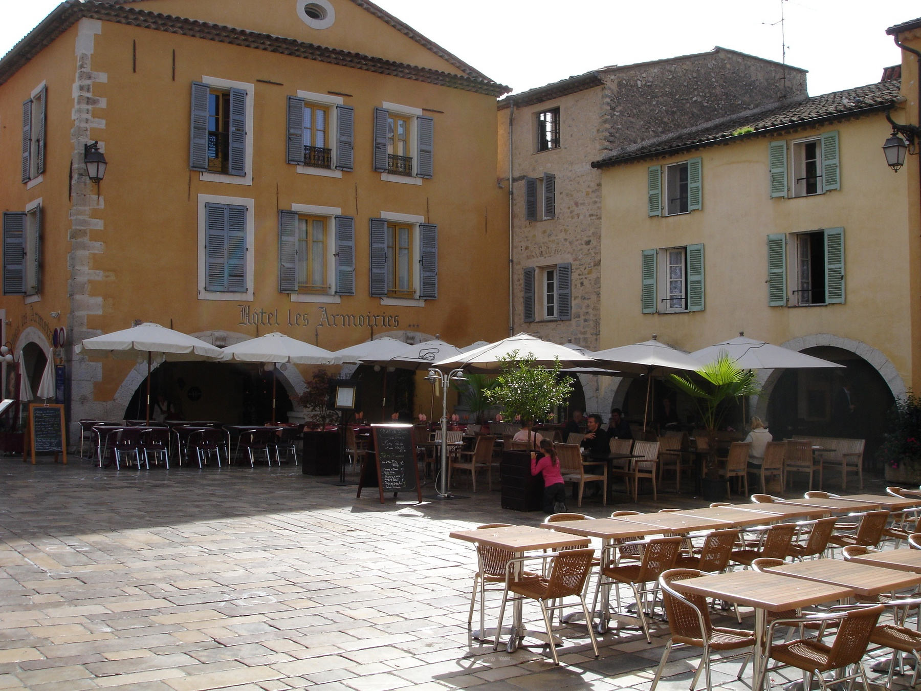 Valbonne centrum plein met restaurants