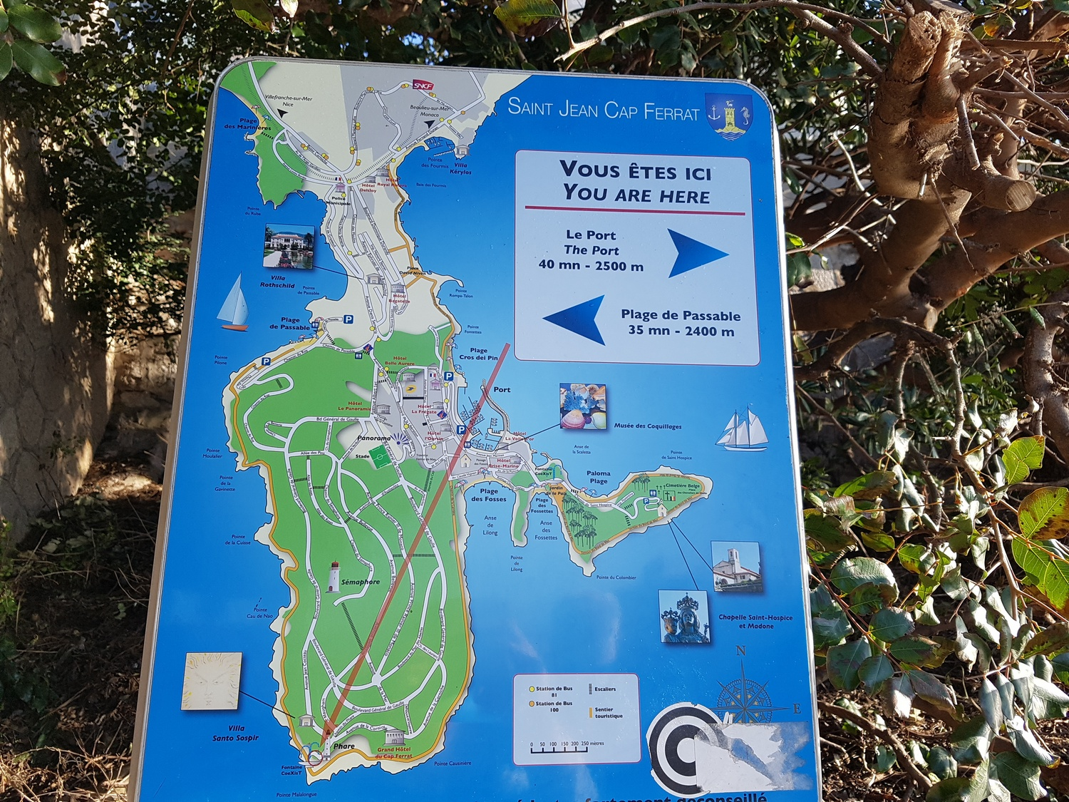 Hiking Cap Ferrat - Hiking trail Cap Ferrat