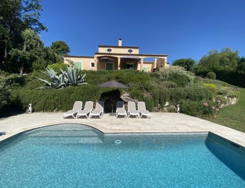 Renovations Villa Valbonne June 2020 including new lounge chairs by the pool
