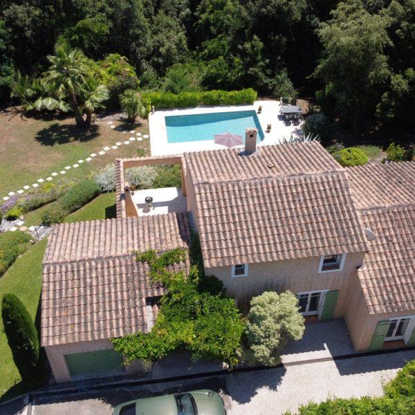 Vakantiehuis Villa Valbonne - Cote d'Azur vanuit de lucht