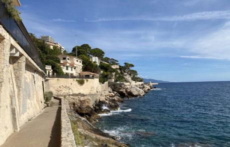 Coastal walking trail Cap d'Ail to Monaco