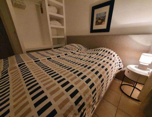 Slaapkamer renovatie Valbonne mei 2021: Bedden, kasten en verlichting